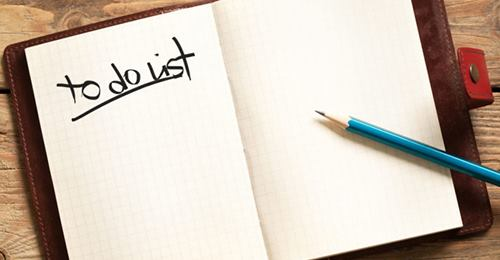 "Les ""To do list"""